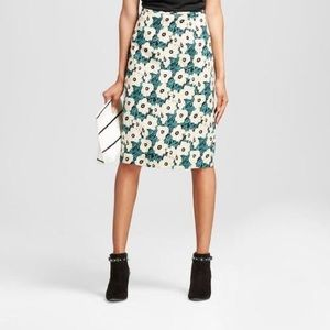 Who What Wear | Floral Pencil Skirt Size 6